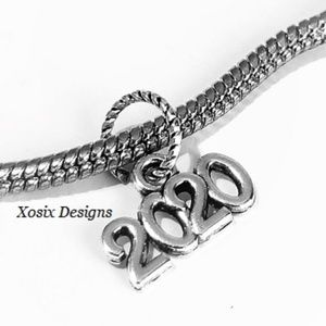 European New Year 2020 Charm Bead Pendant